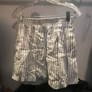 Lush blue and white stripped linen skirt